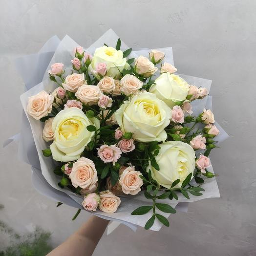 Воздушный букет из роз
