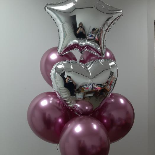 Фонтан презент из 8 шаров