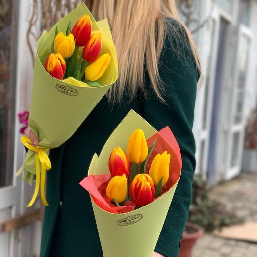 5 Тюльпанов + оформление☺️