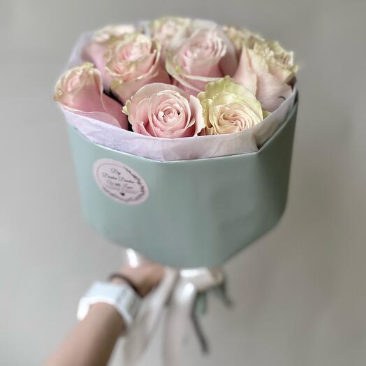 Розы пионовидные Премиум 9 шт