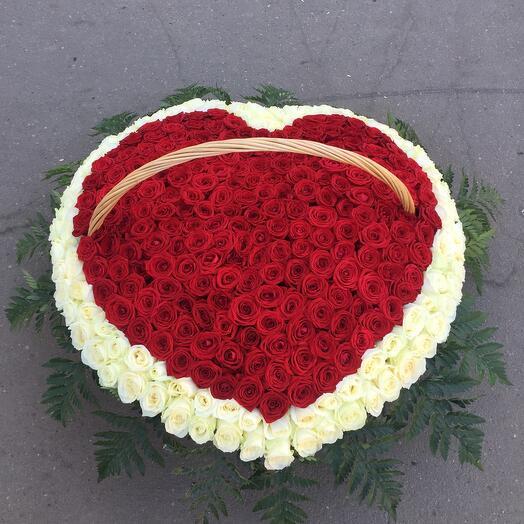 💕 Сердце из роз в корзине!💕
