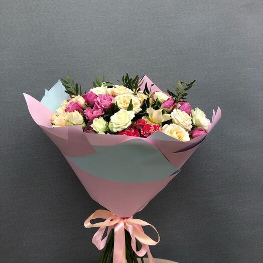 Микс кустовые розы 23