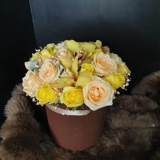 Цветы в коробке4