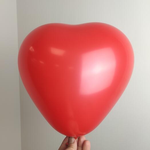 Воздушные шары / сердце красный пастель