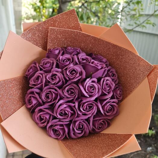 Букет из мыльных роз х