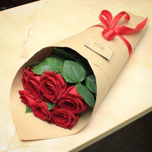 7 роз: букеты цветов на заказ Flowwow