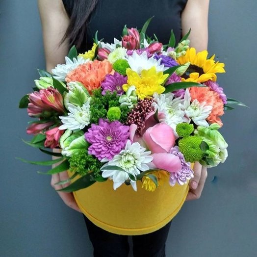 Яркая коробочка: букеты цветов на заказ Flowwow