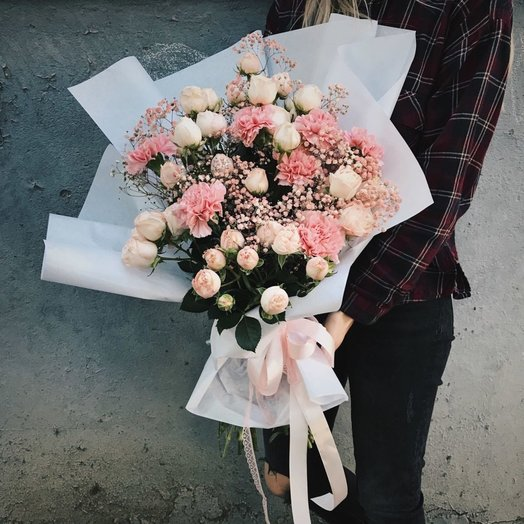 Авторский букет с сортовой розой