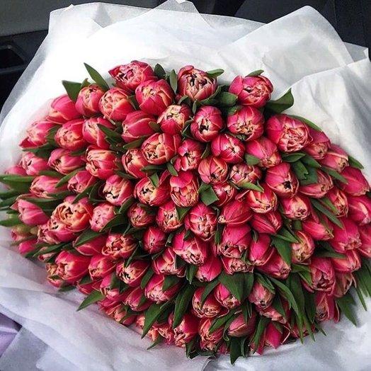 101 пионовидный тюльпан: букеты цветов на заказ Flowwow
