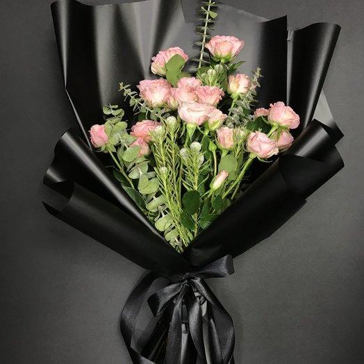 Букет с кустовой розой: букеты цветов на заказ Flowwow