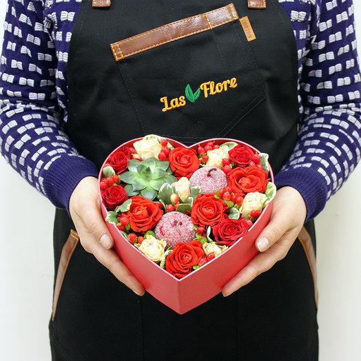 Страстное сердце: букеты цветов на заказ Flowwow