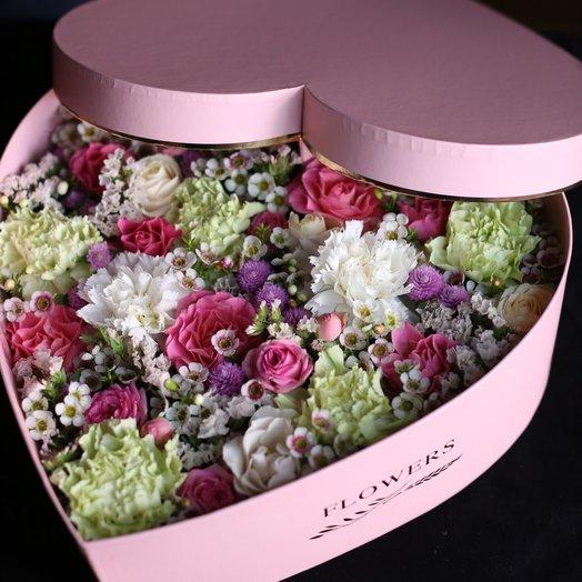Цветочная валентинка