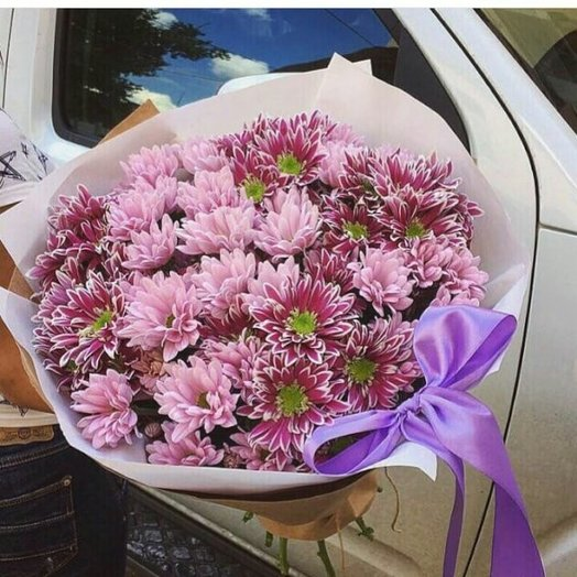 Хризантемы микс: букеты цветов на заказ Flowwow