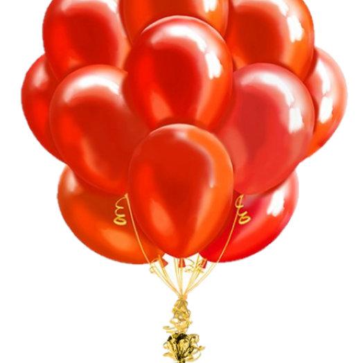 """Воздушный фонтан """"Красное золото"""": букеты цветов на заказ Flowwow"""