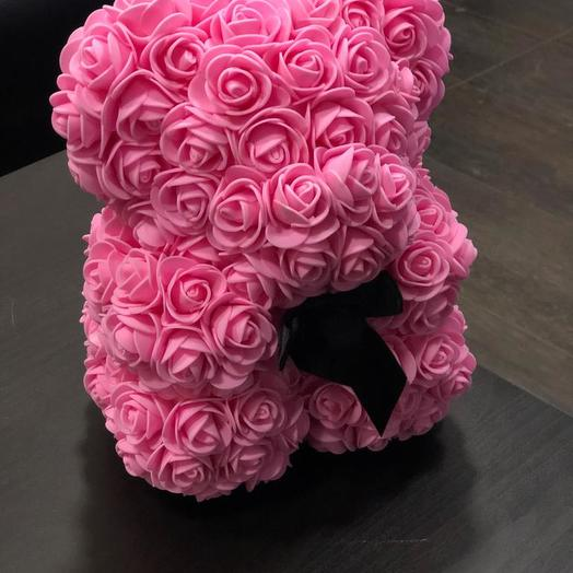 Мишка Teddy из роз: букеты цветов на заказ Flowwow
