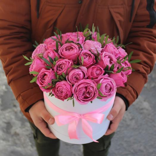 Розы Misty Bubbles в коробке