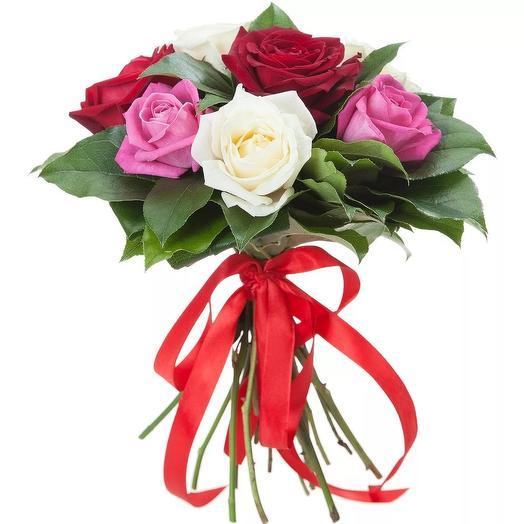 """Букет из 7 роз """"Ольга"""": букеты цветов на заказ Flowwow"""