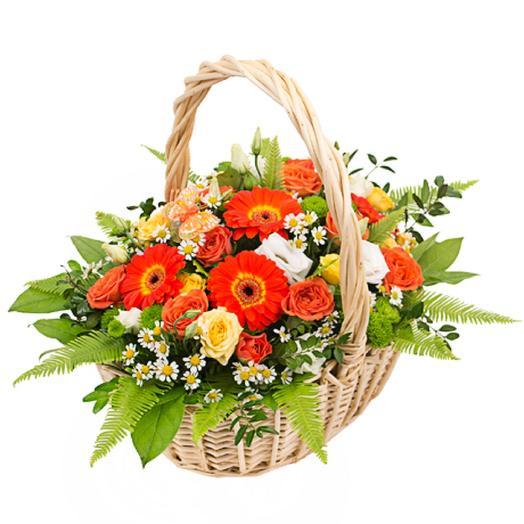 Цветущая корзина: букеты цветов на заказ Flowwow