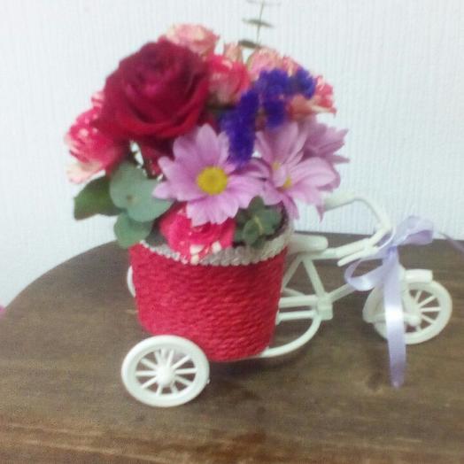 Велосипедный привет: букеты цветов на заказ Flowwow