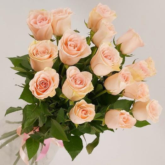 Нежные розочки 17: букеты цветов на заказ Flowwow