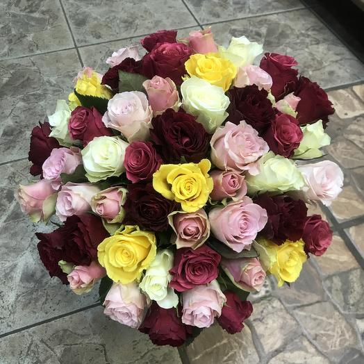Букет из роз (51 Роза): букеты цветов на заказ Flowwow
