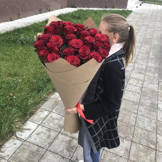 Красный гигант: букеты цветов на заказ Flowwow