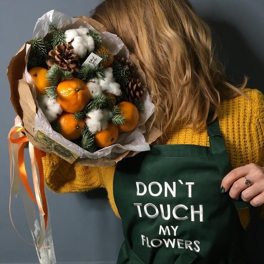 Новогодний мандарин: букеты цветов на заказ Flowwow