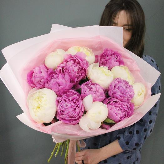 Пончики-пиончики: букеты цветов на заказ Flowwow