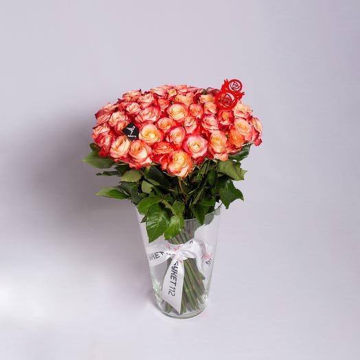 51 роза Premium: букеты цветов на заказ Flowwow