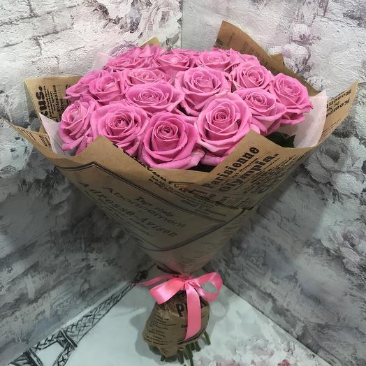 Букет 19 роз аква: букеты цветов на заказ Flowwow