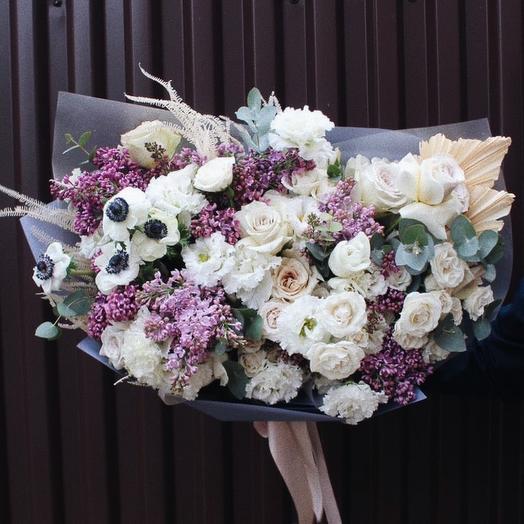 Большой сиреневый букет: букеты цветов на заказ Flowwow