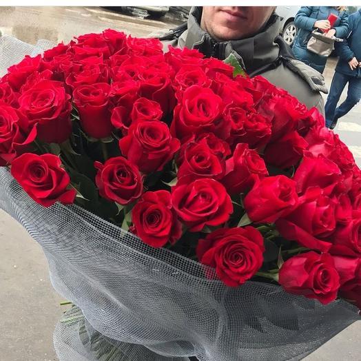 Роза красная 45 шт