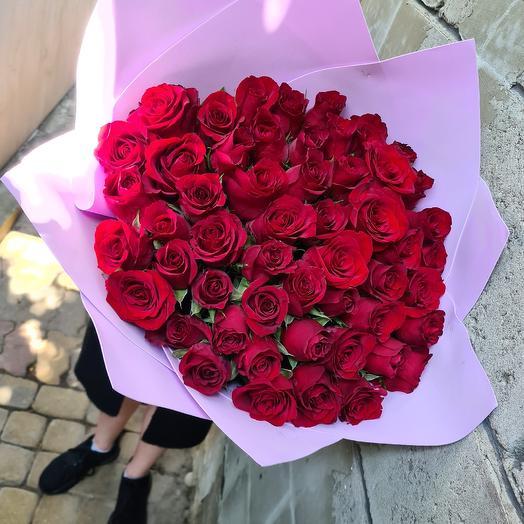 51 роза 55 см Эквадор