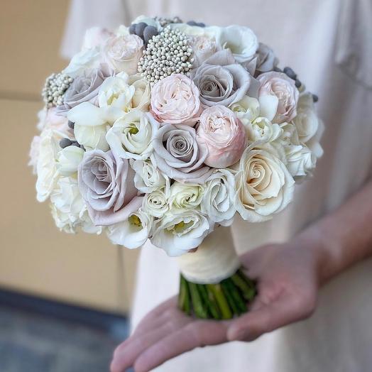 Букет невесты Luxury Flowers Пудровый