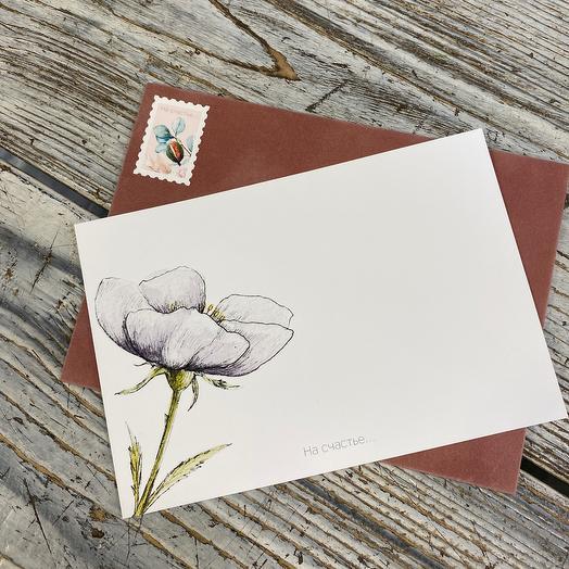 Открытка в бархатном конверте