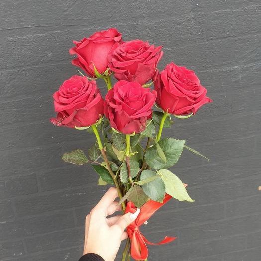 ✅ 5 Красных роз