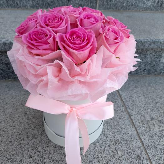 Коробочка из розовых роз