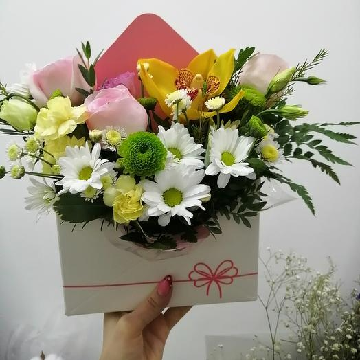 Flowers in a box envelope