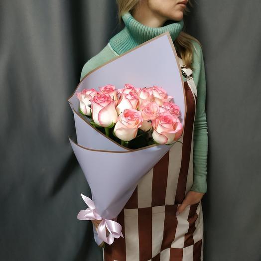 """Букет""""11 розовых роз"""""""