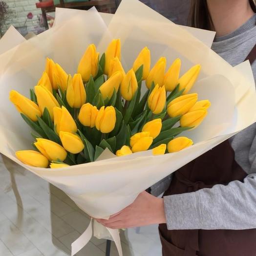 31 желтый тюльпан