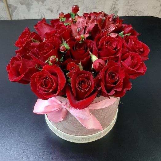 Цветы в коробке Восхищение