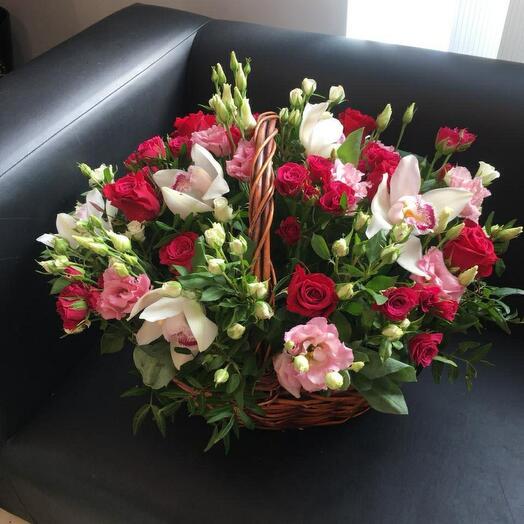 WOW корзина с цветами 😍