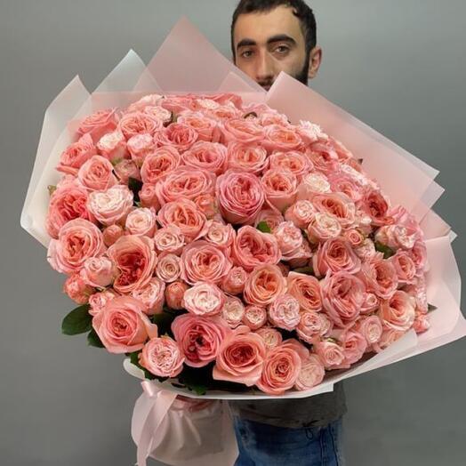 Букет Розоаый рай