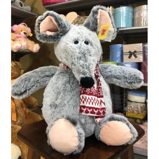 Мышь в шарфе