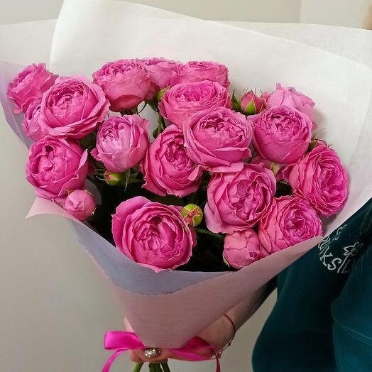 Кустовые пионовидные розы Мисти Баблс