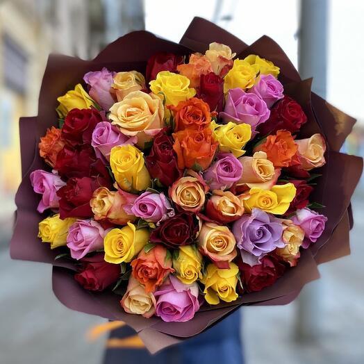 51 роза кения в оформлении