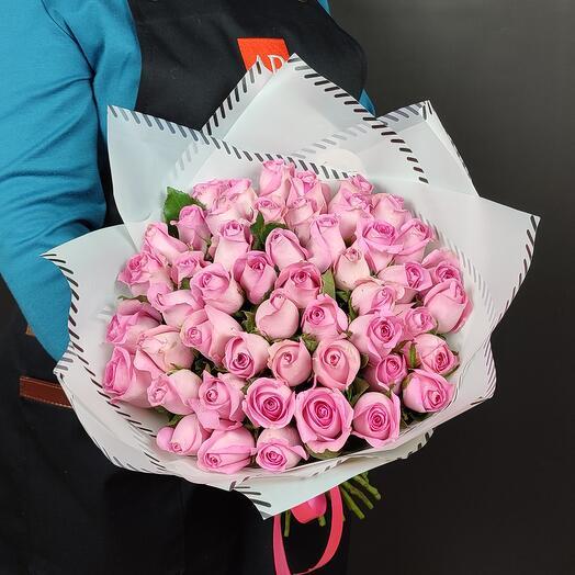 Букет из 51 розовых роз