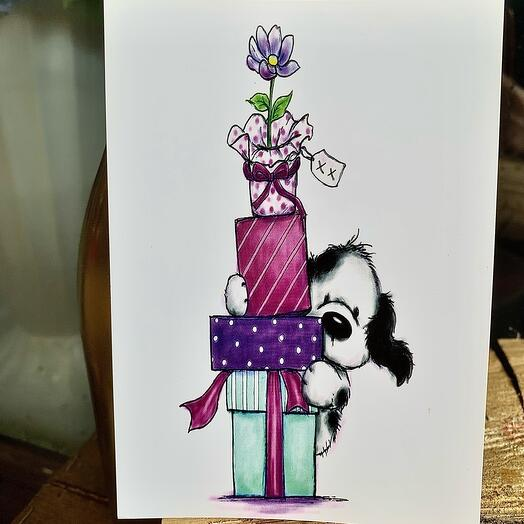 Собачка с подарочками