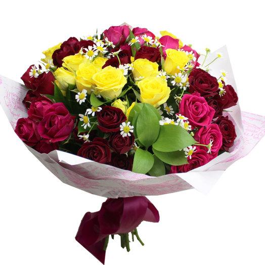 Букет Разноцветная романтика: букеты цветов на заказ Flowwow