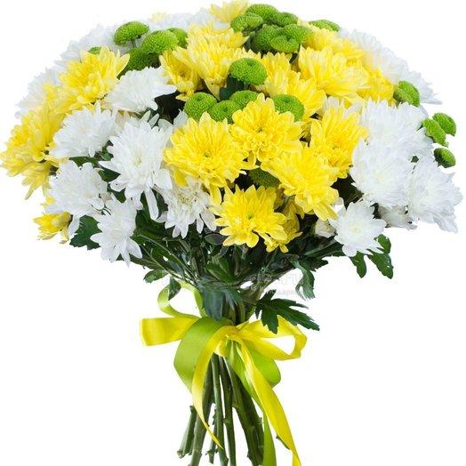 Букет из кустовых хризантем Солнечное настроение: букеты цветов на заказ Flowwow